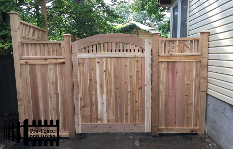 Custom Arched Cedar Gate And Fence